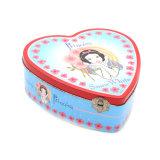 Envasado en forma de corazón la horquilla Tin Caja de regalo para niños
