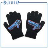 Gants de tricotage de type chaud remplaçable noir de fléau