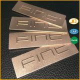 Metallfirmenzeichen-Typenschild-Beutel-Platte mit Oxidation
