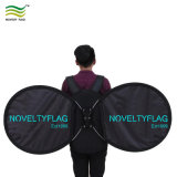 Baking luggage Butterfly O Shape Round banner flag