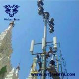 6bands waterdichte Regelbare GSM CDMA 3G 4G WiFi van de Telefoon van de Hoge Macht GPS past de Stoorzender van het Signaal van de Frequentie aan