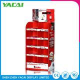 Conecte o suporte de papel dobrado Rack de Exibição do piso para as lojas especializadas