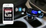 Les briquets pour cigarettes de véhicule avec le véhicule sans fil MP3 FM de Bluetooth de nécessaire de véhicule de l'écran LCD 2.1A transmettent par le double USB