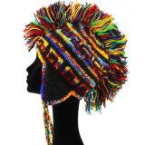 女性の冬の厚い帽子の帽子のスキー耳は帽子の帽子をはためかす