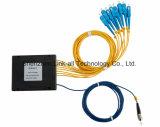 1X8 Modular PLC Splitter de fibra óptica