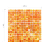 Dekorative orange quadratische Buntglas-Mosaik-Fliese