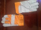 Двойной Palm/исправления для рук из натуральной кожи крупного рогатого скота рабочие перчатки