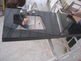 Черным полированным гранитом Galaxy плитки&слоев REST&место на кухонном столе