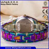 남자 숙녀 (WY-17003A)를 위한 주문 로고 석영 시계 형식 손목 시계