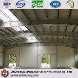 Bas prix préfabriqués structuraux hangar de stockage de tôle en acier ondulé