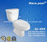 Siphonic 결박 (DL-055)를 가진 위생 상품 세라믹 2 조각 화장실