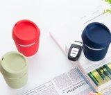 실리콘 소매 Forpromotion를 가진 재사용할 수 있는 다채로운 유리제 커피 잔