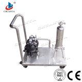 Filtre en acier inoxydable poli Logement du filtre à cartouche unique avec la pompe à air