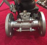 CF8m / CF8 Placa de fixação directa 3 Tipo de Peça de Válvula de Esfera