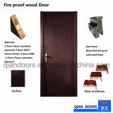 Hot Fraxinus Mandshurica Barniz ignífugo de madera puerta