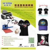 no papel de transferência térmico do t-shirt da cor escura para a impressora Inkjet