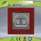 Zoccolo certificato di DATI del DOPPIO del NERO del vetro temperato di standard europeo dei CB del CE di TUV