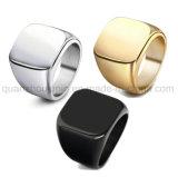 Galvaniseert de Hete Verkoop van de douane de Ring van de Juwelen van het Staal van het Titanium