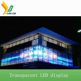 Afficheur LED transparent polychrome de publicité d'intérieur du produit chaud P5mm