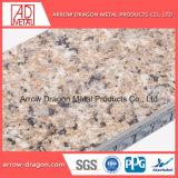 Der einfache Kalkstein bauen kosteneffektives Steinfurnier-blattaluminiumbienenwabe-Panels für Decken-Laibungs-Dach-Bedeckung zusammen