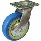 Rodas silenciosas resistentes do rodízio do giro do azul TPR de 4/5/6/8 de polegada