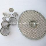 Круглый корпус из нержавеющей стали из проволочной сетки фильтра и фильтра тонкой очистки дисков