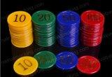 O Jetton de jogo plástico China fêz a microplaqueta do póquer
