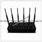 Emittente di disturbo per 800MHz+900MHz+1800MHz+1900MHz+3G2100MHz+433MHz+315MHz+Lojack, emittente di disturbo da tavolino del telefono per il GSM, CDMA 3G, 4G cellulare, telecomando 433/315 dell'automobile