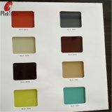 Peint en blanc de 5 mm de verre / la cuisson en verre (noir, rose, vert, jaune, bleu)