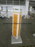 Dreieck-drehbarer Form-Schuh-Bildschirmanzeige-Zahnstangen-Standplatz