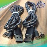 3 Multi-Functional em 1 cabo magnético do metal do X-Cabo que tece rapidamente cobrar para o micro tipo C da iluminação