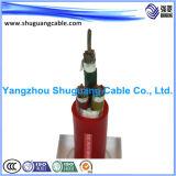 XLPE에 의하여 격리되는 고전압 전력 케이블
