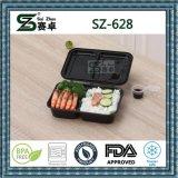 Casella di pranzo di plastica di Bento di rettangolo di memoria dell'alimento del pranzo degli scompartimenti del contenitore di alimento 2