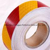 Roter/weißer doppelter Farben-Streifen-Entwurfs-reflektierendes warnendes Band (C3500-S)
