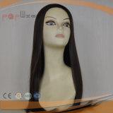 Encantador Vrigin negro terminado de caer el pelo peluca (PPG-L-0374)