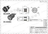 Wnre 여성 5.5mm 2.1mm DC 022b 방수 직류 전원 잭 3 Pin DC 소켓