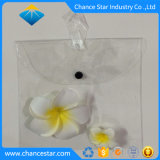 Couleur personnalisée imprimer sac en plastique transparente en PVC avec Snap bouton crochet
