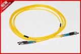 2.0mm MU aos cabos de correção de programa óticos da fibra simples Singlemode da MU