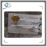 Kundenspezifische transparente Plastik-Belüftung-Karte mit freier Probe