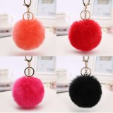 O charme do saco Faux Fur Ball Chaveiro Faux Fur POM POM