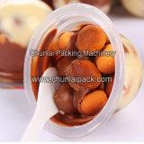 Máquina de enchimento da selagem do chocolate do copo do biscoito do dedo