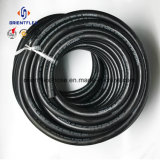 Mangueira de ar de alta pressão trançada da fibra preta da cor