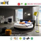 Modernes elegantes Entwurfs-echtes Leder-Bett (HC325) für Schlafzimmer
