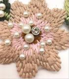 Новый Applique картины цветка вышивки перлы прибытия 2017 для одежд