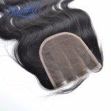 5X5 레이스 마감 3개 부품에 의하여 표백되는 매듭 인도 바디 파 머리