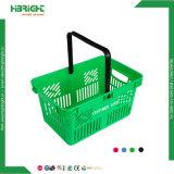 Commerce de gros supermarché transporter panier de magasinage en plastique