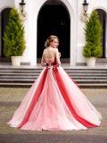 Платье цветка розовое и красное Tulle выпускного вечера партии вечера шарика мантии Quinceaner платья венчания