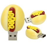 Armazenamento externo do bolo do Hamburger/morango da movimentação do flash do USB/presente dos pratos