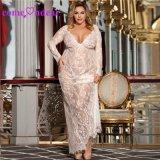 En Stock 5XL Plus violet de la taille de la dentelle robe de nuit