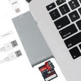 La aleación de aluminio C USB hub con 3 puertos de 4K de HDMI y lector de tarjetas SD/TF C Hub USB para el 2018 mini notebook